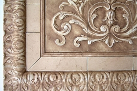 Acanthus Liners and Corners Close Up