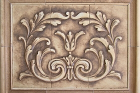 Cartouche tile and Plain Frame liners for Decorative Wall Art