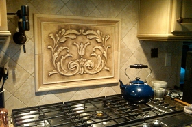 Cartouche tile and Plain Frame liners