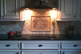 Cartouche Kitchen Backsplash