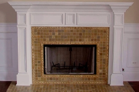 Field Tiles used in Framing Fireplace