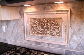 Backsplash Installations Using the Floral Tile