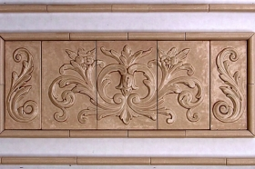 Floral tile with Single Scrolls for Backsplash