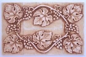 Grapes and Leaves tile set