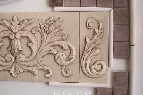 Half Round Liners for Decorative Wall Mural