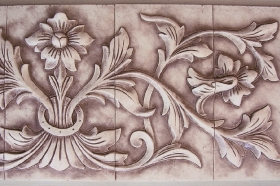 Large French Flower for Backsplash