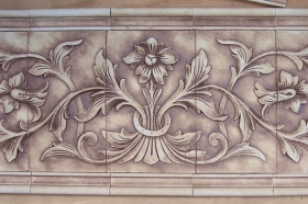 Large French Flower for Kitchen Backsplash