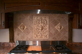 Lion Panel and 6x6 Lion Face tiles
