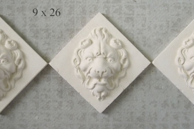 Lion Face tiles Unglazed