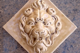 Lion Face Glazed and Ready for Install