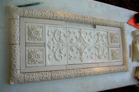 Medium Medallions to add length to tile set for Interior Design