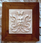 Small  Medium and  Long Green Man tiles