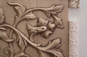Small Acanthus Liners Close Up