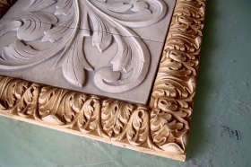 Small Acanthus Liners used to Frame tile