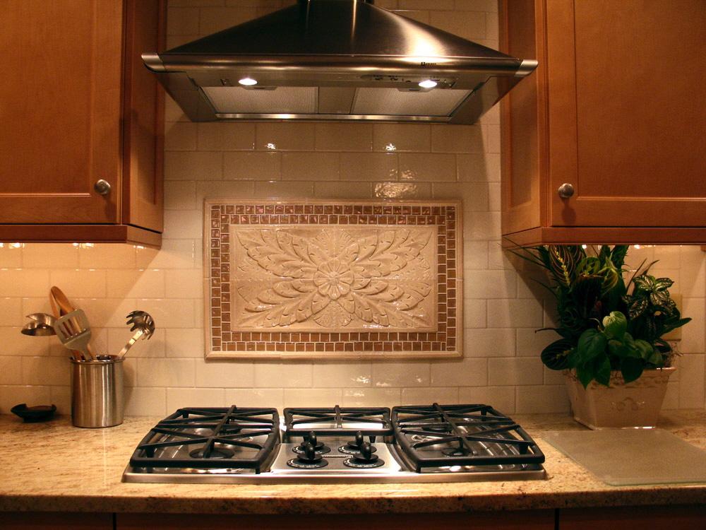 4x4-travertine-backsplash-tile Kitchen Backsplash Medallions