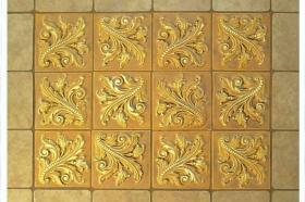 Twisted Leaf tiles Installed