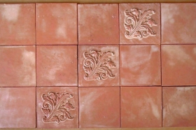 Field Tiles installed for Decorative Wall Art
