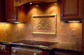Field Tiles in Kitchen Backsplash