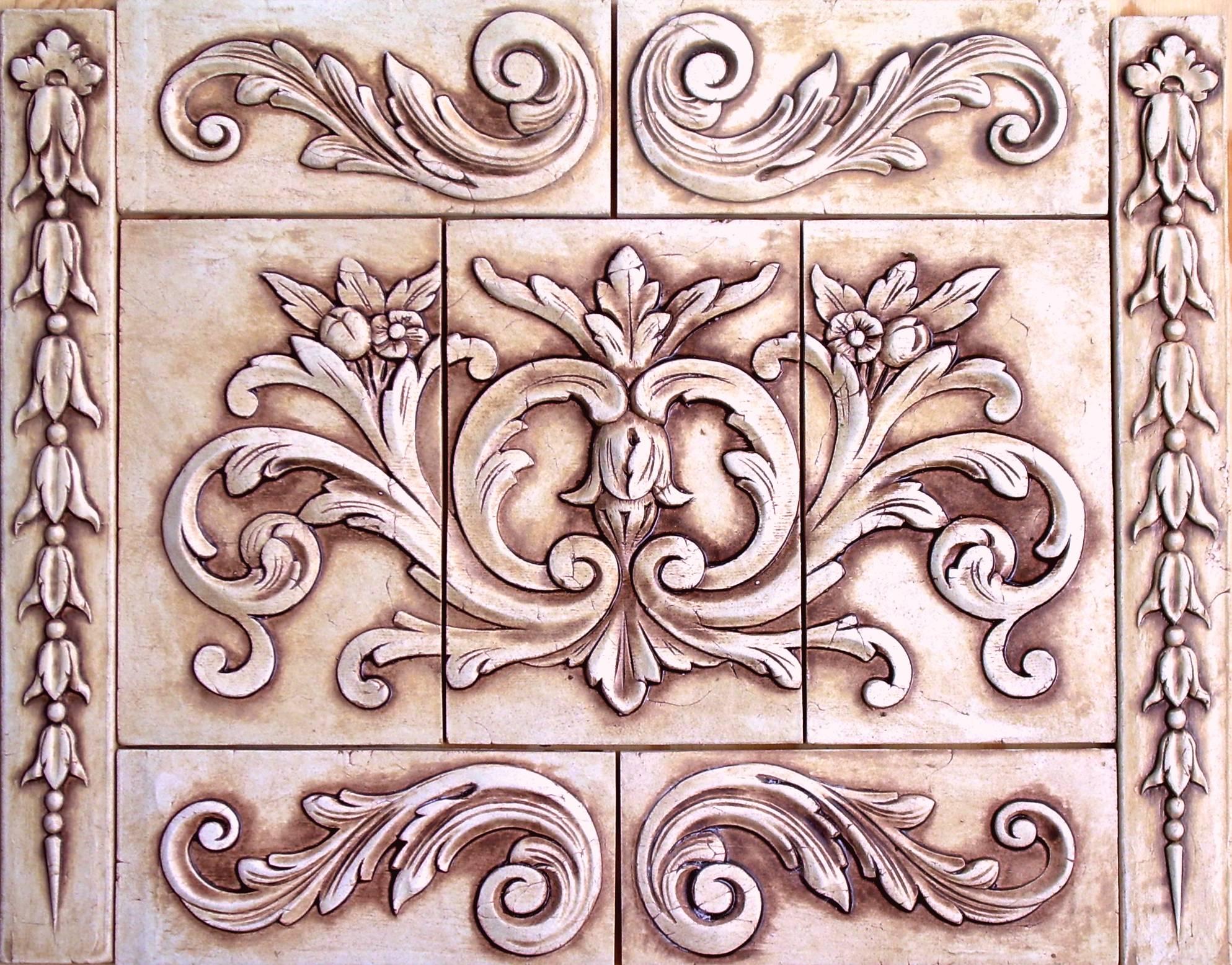 Kitchen Ceramic Backsplash Tiles Floral