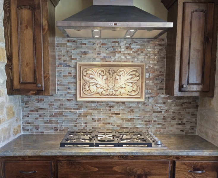 decorative tile inserts kitchen backsplash installations andersen ceramics 2404
