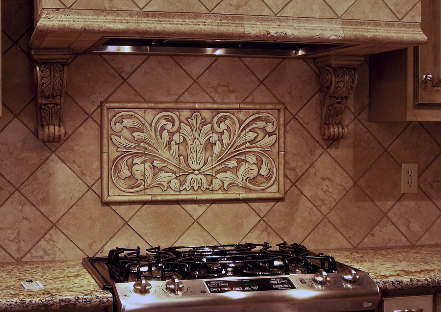 decorative tile backsplash kitchen installations andersen ceramics 6505