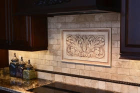 Toulouse, 1.5 inch flat tiles and Plain Frame liners