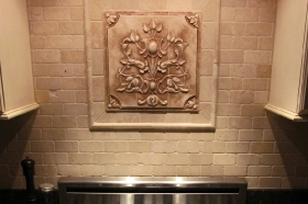 Raised Panel with customer supplied stone liners