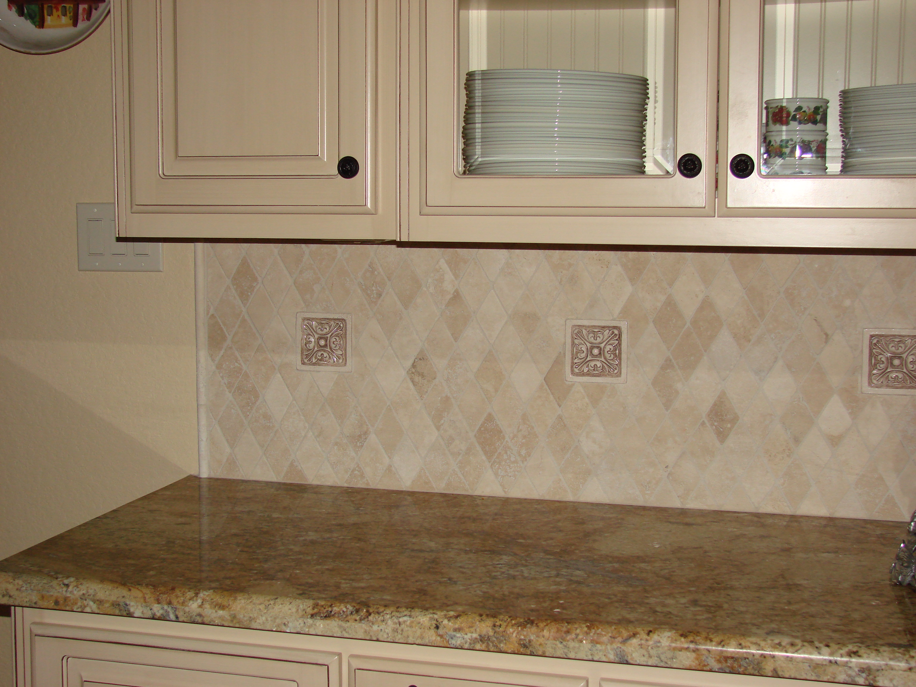 Small Relief Tiles Stone Insert Designs Kitchen
