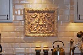 Double Scroll decorative tile