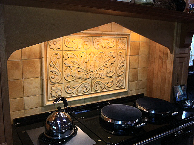 Resulting Toulouse Tile Along With Scrolls Medallions And Plain Frame Liners All Created Separately The Total Size Is 26 5 X 39